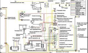 Цветная схема электропроводки ГАЗ М20