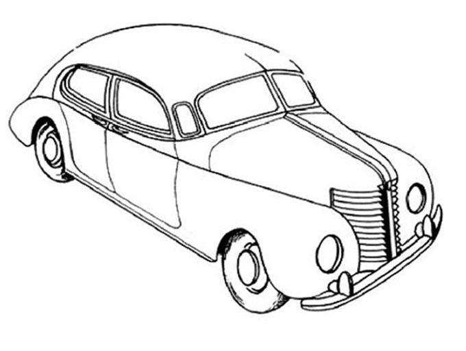 Эскиз автомобиля с обтекаемым кузовом, выполненный в 1938 году Валентином Бродским для ГАЗа