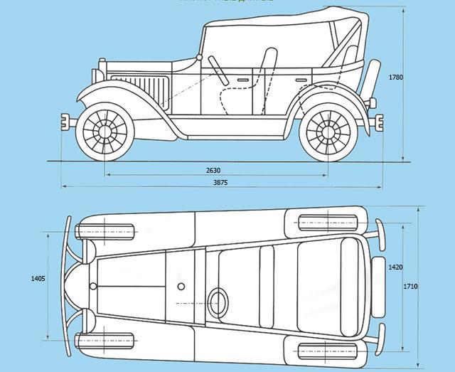 Схема автомобиля ГАЗ А