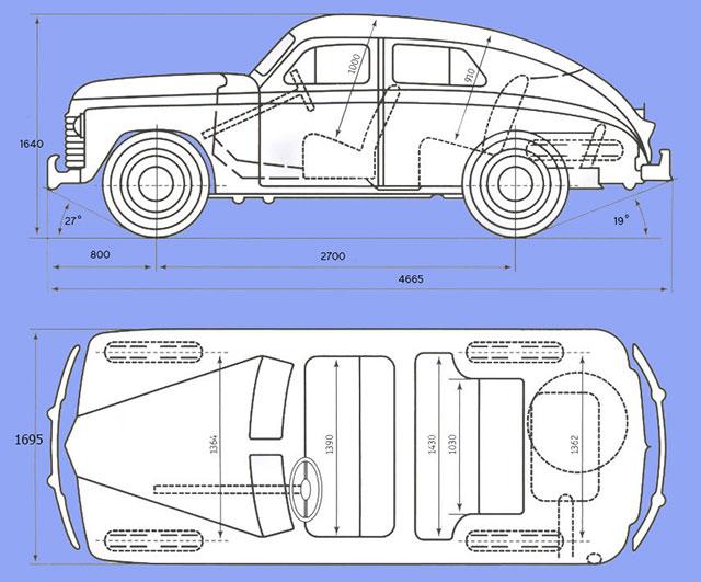 Схема ГАЗ М20 Победа